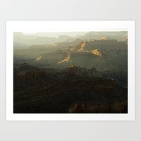 The Grand Canyon Sunset Art Print