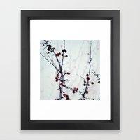 Red Freeze Framed Art Print