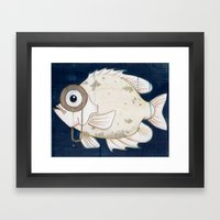 Monocle Fish Framed Art Print