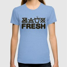 FRESH Womens Fitted Tee Tri-Blue SMALL