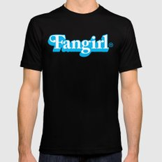 Fangirl Black Mens Fitted Tee SMALL