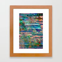 Space Glitch Framed Art Print