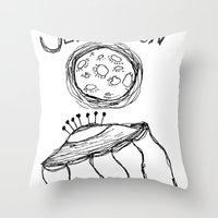 Jelly Moon V.2 Throw Pillow
