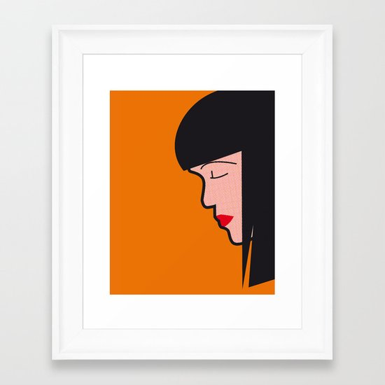 Pop Icon - Mia Framed Art Print