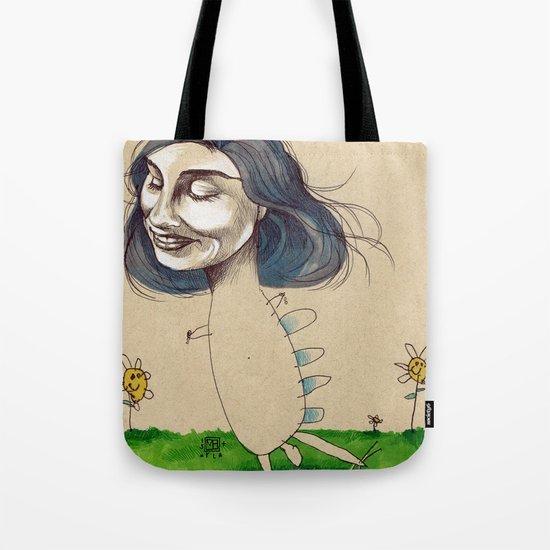 DINOSAUR GIRL Tote Bag