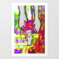 Hand of love Art Print
