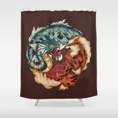 The Tiger and the Dragon Shower Curtain