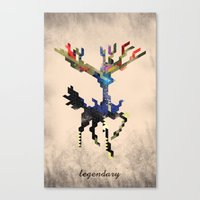 I Am Legendary X - Geometric Canvas Print