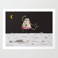 On The Moon 2 Art Print