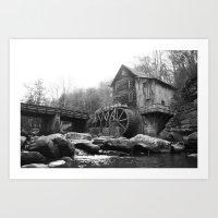 Glade Creek Grist Mill (… Art Print