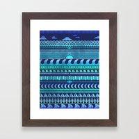 Aqua | Tribal Framed Art Print