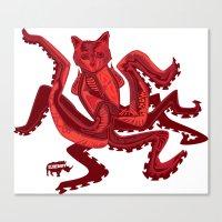 the Squidcat Canvas Print