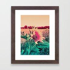 Happy Sun Flower Framed Art Print