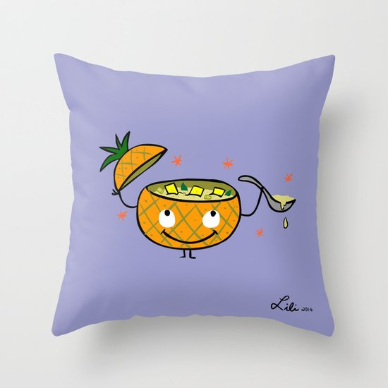 Pineapple Curry Throw Pillow