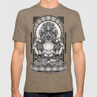 Sacred Ascetic Mens Fitted Tee Tri-Coffee SMALL