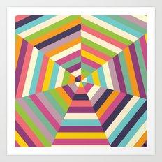 Heptagon Quilt 1  Art Print