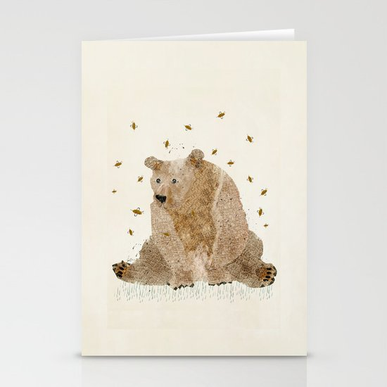 bear grizzly  Stationery Card