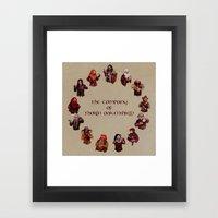 The Company of Thorin Oakenshield Framed Art Print