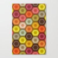 crochet honeycomb retro Canvas Print