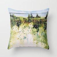 along Sainte Mary's Bay, Nova Scotia Throw Pillow