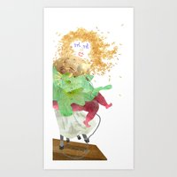 Food Festival Singer Art Print