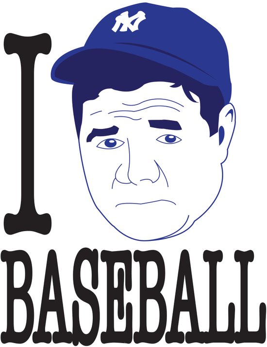 I __ Baseball Art Print