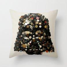 Darth Buttons Throw Pillow