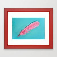 PINK FEATHER Framed Art Print