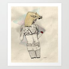 Silent Duck Art Print