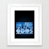 THE ODDS Framed Art Print