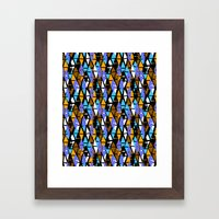 Harlequin pattern Framed Art Print