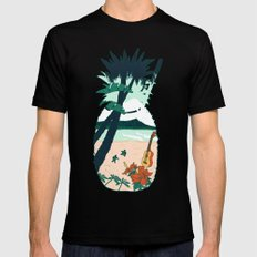 Aloha Mens Fitted Tee Black SMALL