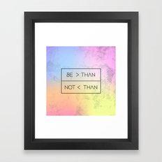 GREATER [RAINBOW] Framed Art Print