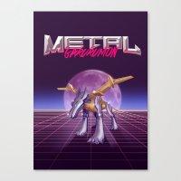 Metal Wolf Claw Canvas Print
