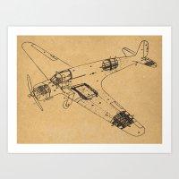 Airplane Diagram Art Print