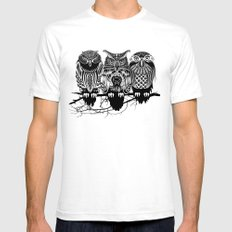 Owls of the Nile SMALL White Mens Fitted Tee
