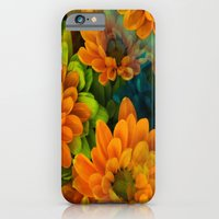 iPhone & iPod Case featuring Orange Floral Bouquet by RokinRonda