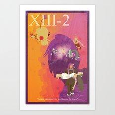 Vintage FF Game Poster XIII-2 Art Print