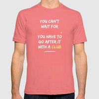 Go After Inspiration With A Club Mens Fitted Tee Pomegranate SMALL