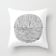 Circle : Vertical / Horizontal Throw Pillow