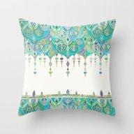 Art Deco Double Drop In … Throw Pillow