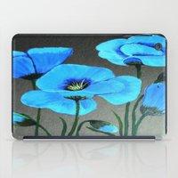Blue Poppies  iPad Case