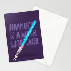 Happiness is a warm Lightsaber Stationery Cards