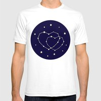 Star Lovers Mens Fitted Tee White SMALL