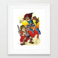 Duel! Framed Art Print