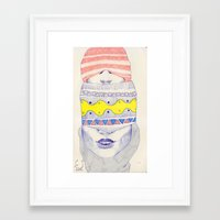 Double-headed Framed Art Print