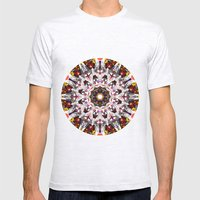 Donkey Flower Kaleidoscope  Mens Fitted Tee Ash Grey SMALL