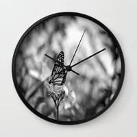 Papillion en  Noir Wall Clock