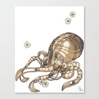 Mechanical Octopus Canvas Print