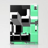 Digital Squares Stationery Cards